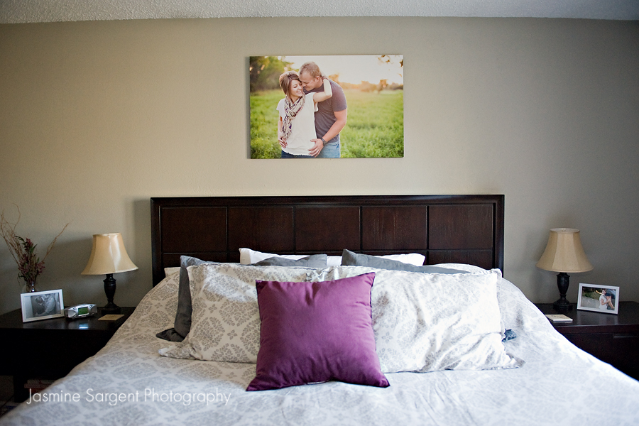 We Also Have Frames On Each Side Of Our Bed That Change Out Photos Every Once In Awhile Usually A Favorite Us